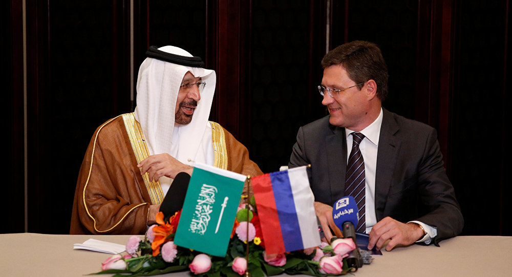 وزير الطاقة الروسي ألكسندر نوفاك ونظيره السعودي خالد الفالح