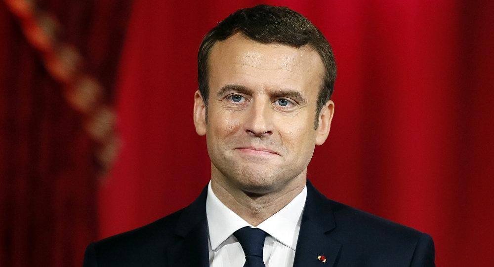 الرئيس الفرنسي إيمانويل ماكرون، 14 مايو/ آيار 2017