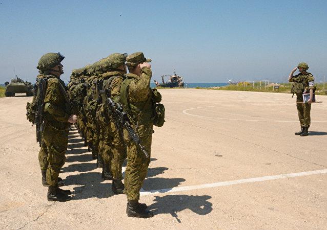 المناورات الروسية-السورية العسكرية المشتركة في طرطوس