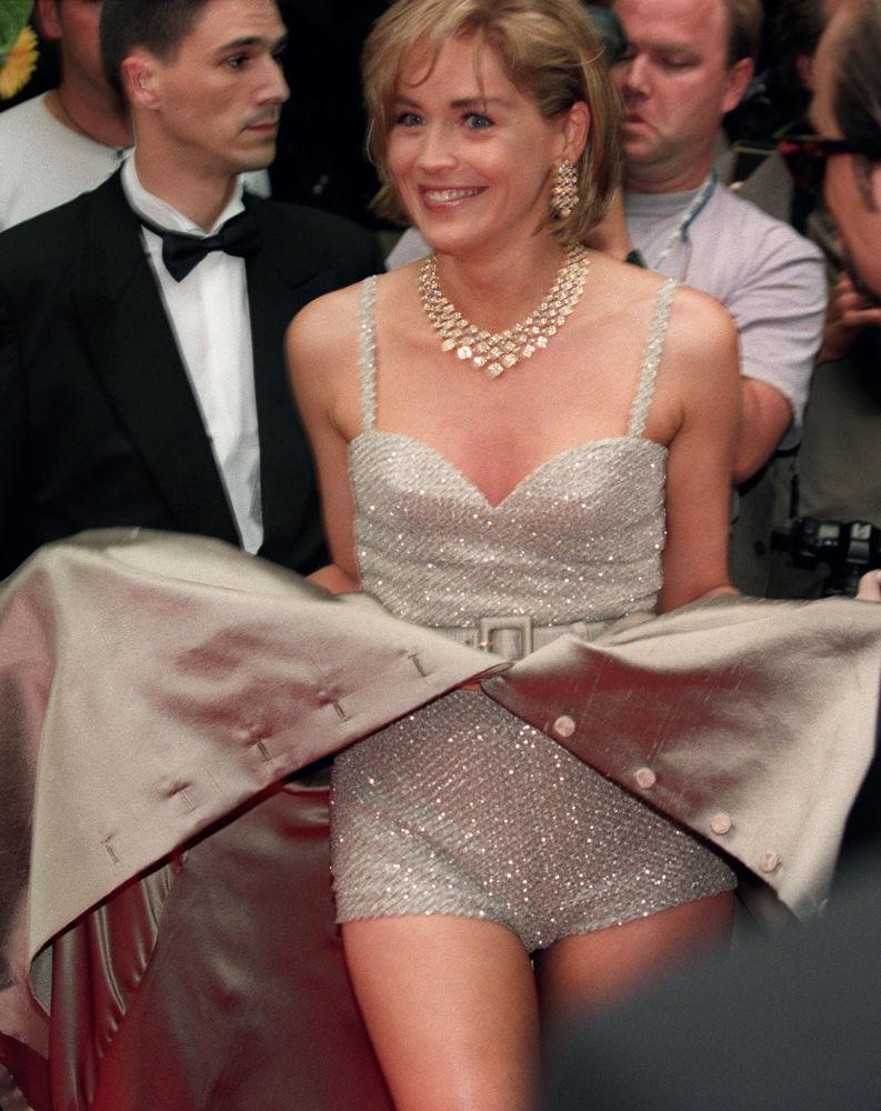 الممثلة شيرون ستوون في مهرجان كان السينمائي