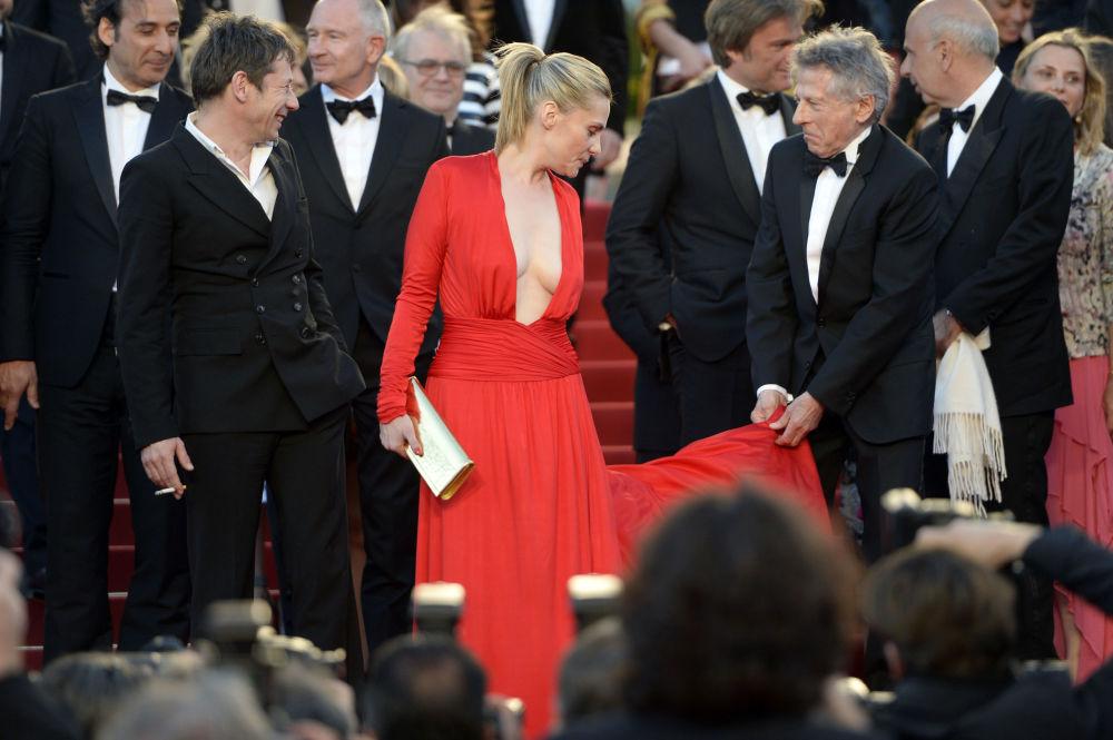 المخرجة الفرنسية رومان بولانسكي في مهرجان كان السينمائي