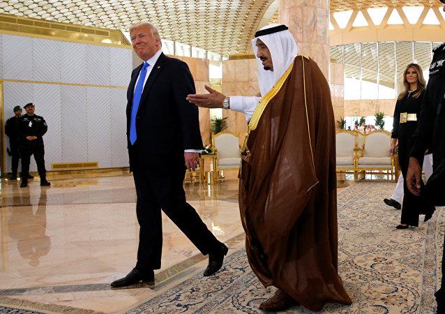 ترامب وسلمان في الرياض