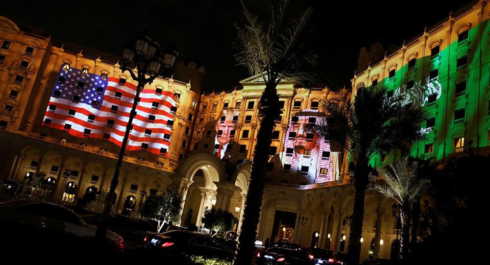فندق ريتز كارلتون في الرياض الذي يقيم فيه الرئيس الأمريكي ترامب