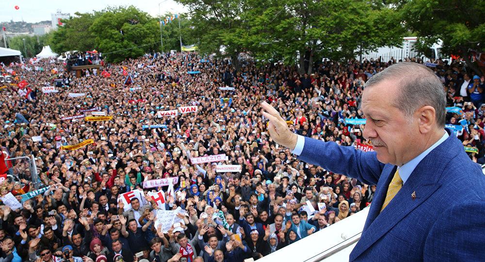 أردوغان أمام حشد من أنصاره