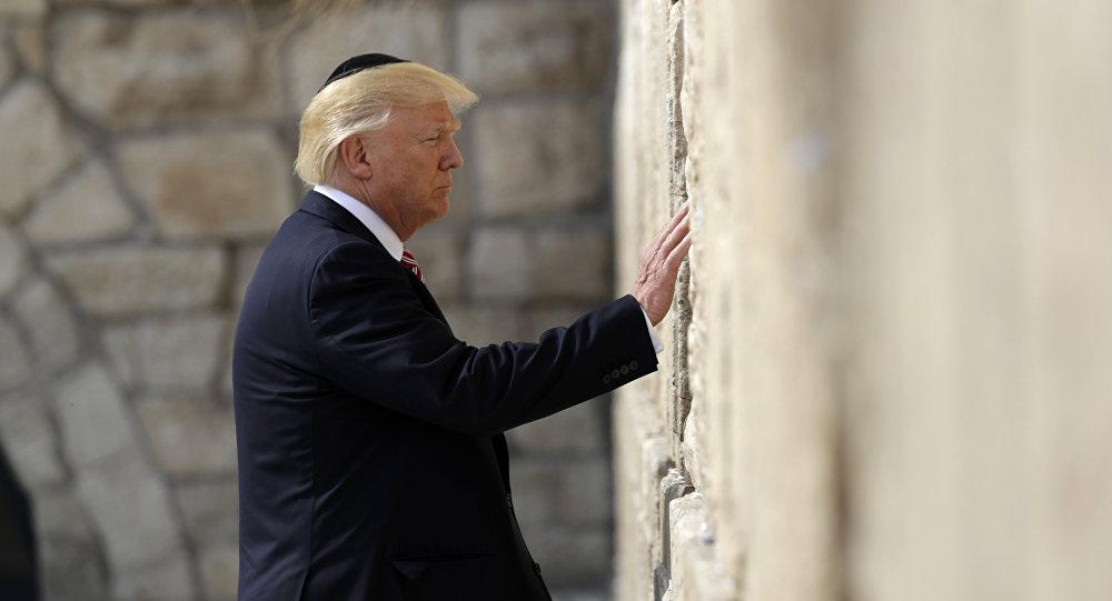 الرئيس دونالد ترامب يزور الحائط الغربي في القدس، 22 مايو/ آيار 2017