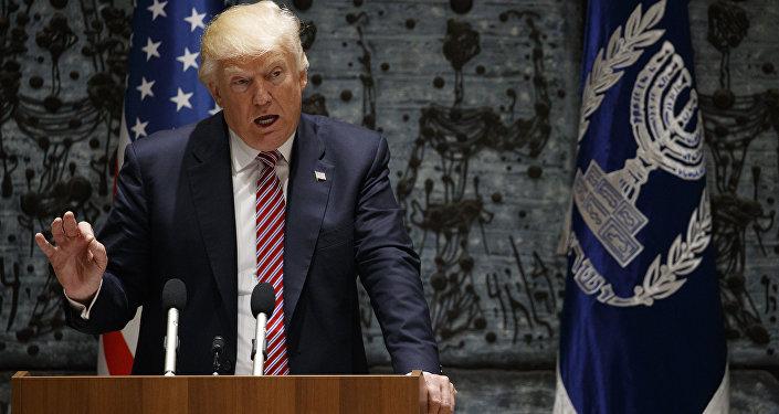 الرئيس الأمريكي دونالد ترامب في القدس، 22 مايو/ آيار 2017