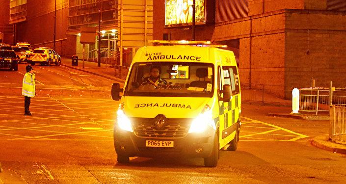 سيارات الإسعاف في موقع الحادث