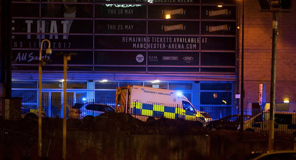 موقع الحادث بمدينة مانشستر