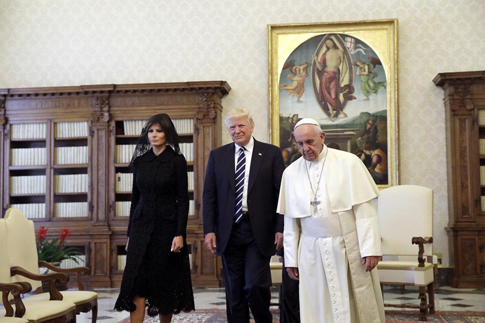 زيارة الرئيس الأمريكي دونالد ترامب وزوجته ميلانيا إلى الفاتيكان، 24 مايو/ أيار 2017
