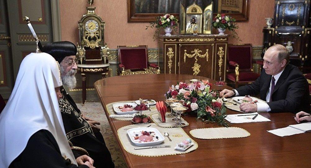 تواضروس خلال لقائه بوتين