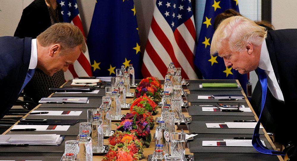 ترامب ورئيس المجلس الأوروبي