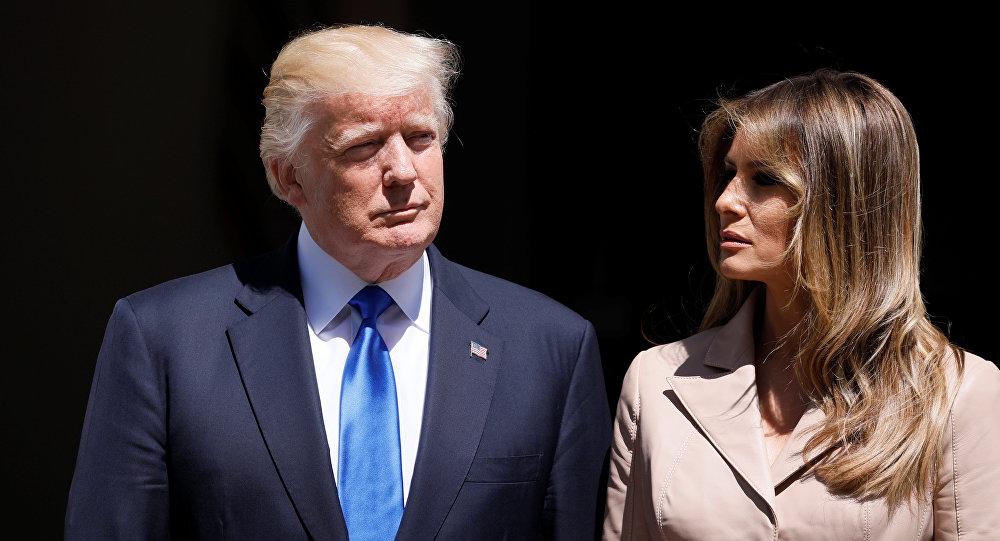 ترامب وزوجته في قمة الناتو ببروكسيل