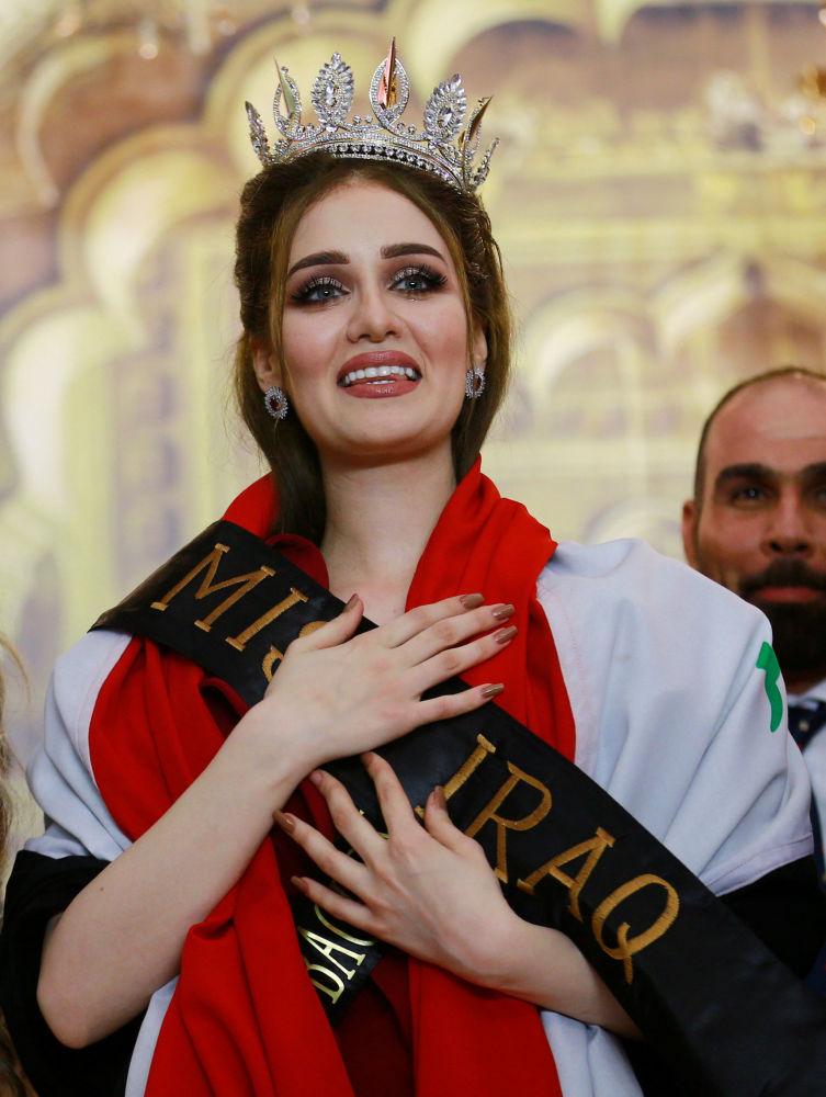 العراقية فيان أمير - الفائزة بلقب ملكة جمال العراق، بغداد 25 مايو/ آيار 2017