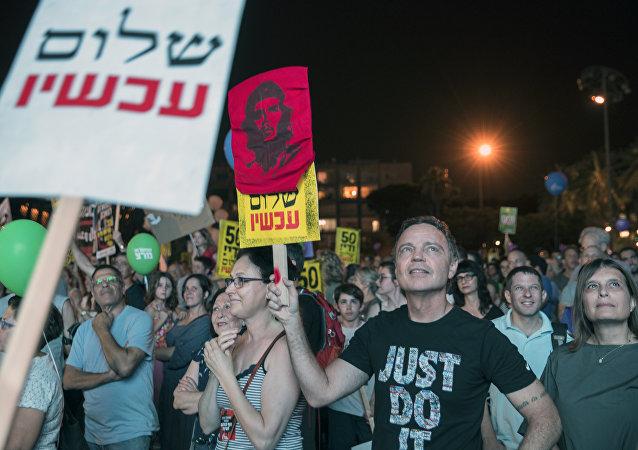 مظاهرات حاشدة في تل أبيب تطالب بتحقيق السلام