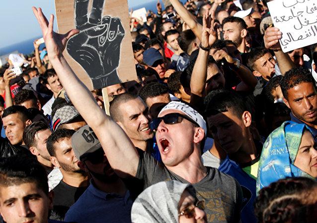 مظاهرات الحسيمة في المغرب