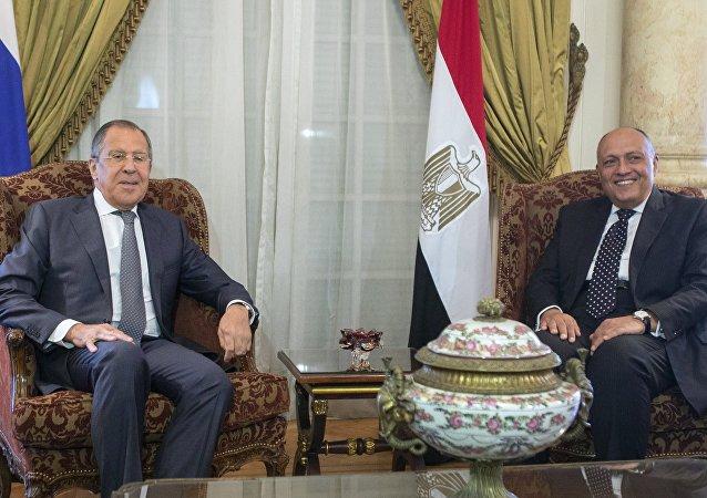 زيارة وزير الخارجية الروسي سيرغي لافروف إلى مصر