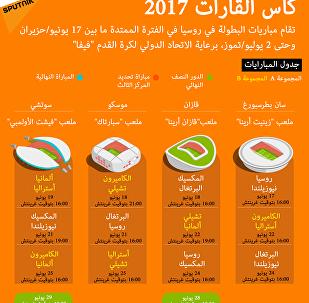 جدول مبارايات كأس القارات 2017