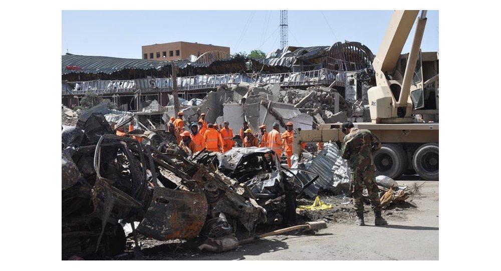 ما بعد الانفجار في كابول، أفغانستان