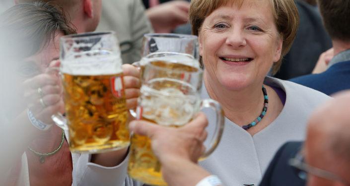 مستشارة ألمانيا انجيلا ميركل خلال مهرجان تروديرينغ في ميونخ، ألمانيا 28 مايو/ أيار 2017