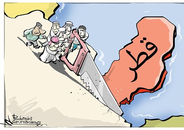 حرب قطرية عربية