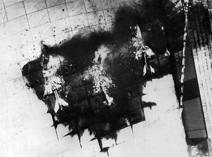 طائرات القوات الجوية المصرية ميغ-21 بعد تدميرها، 5 يونيو/ حزيران 1967