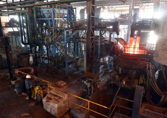 مصنع المعادن في محافظة حماة، سوريا