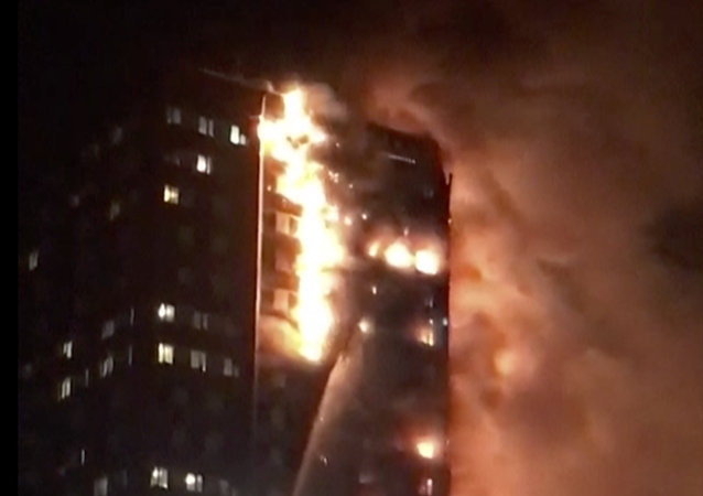 حريق في احد المباني السكنية في لندن