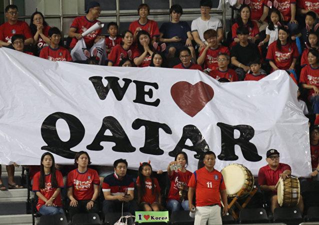 متعاطفون مع قطر