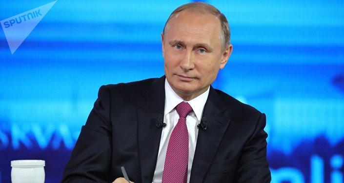 الرئيس الروسي فلاديمير بوتين يجيب على أسئلة المواطنين، البث المباشر، 15 يونيو/ حزران 2017