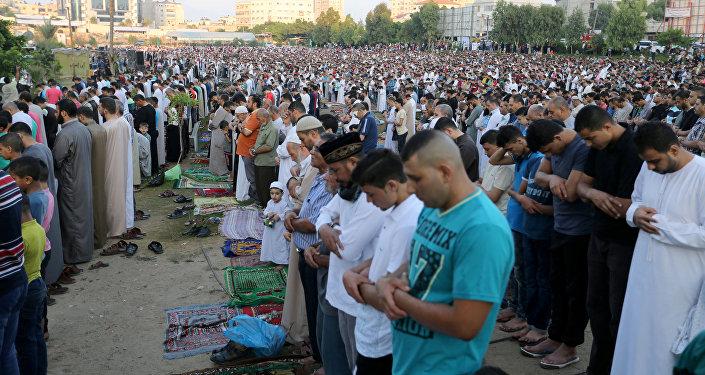 صلاة عيد الفطر في غزة