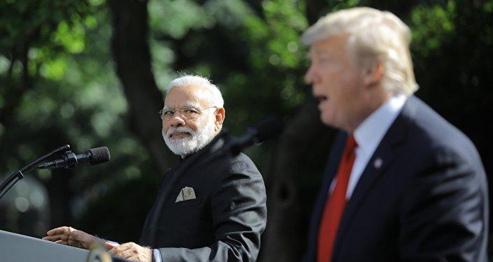 ترامب والرئيس الهندي