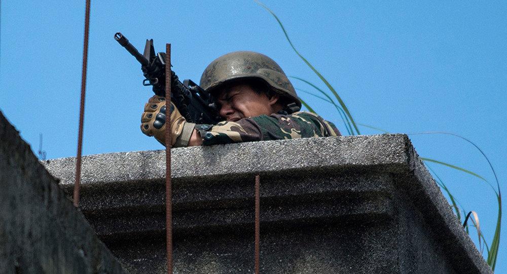 جندي في مدينة ماراوي