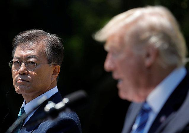 ترامب ورئيس كوريا الجنوبية