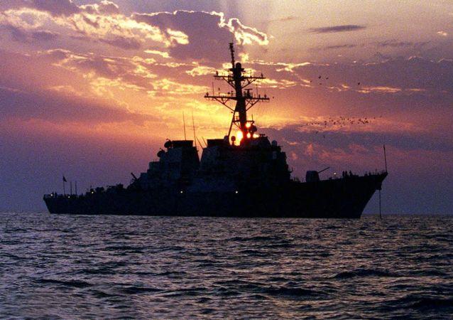 مدمرة أمريكية في الخليج (صورة ارشيفية)