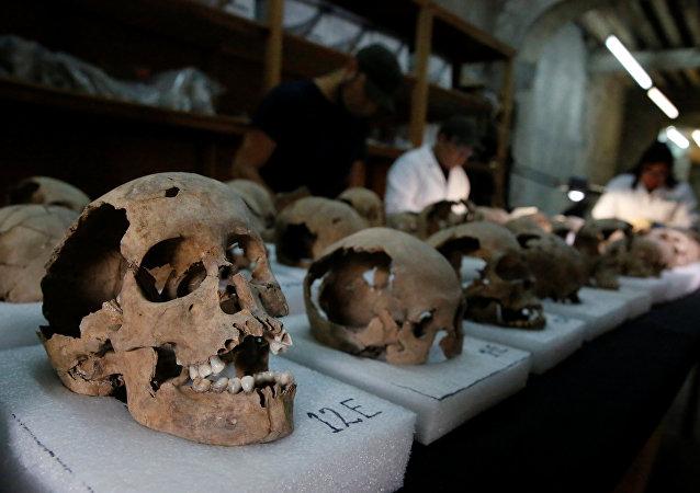 جماجم بشرية مكتشفة في المكسيك