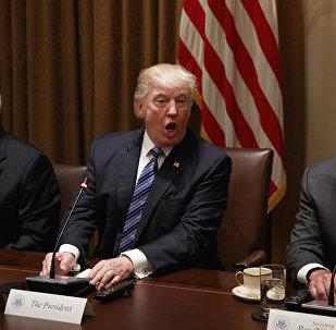 وزير الخارجية الأميركي، ريكس تيليرسون، والرئيس الأمريكي دونالد ترامب