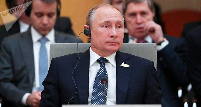 قمة مجموعة العشرين في هامنبورغ، ألمانيا - الرئيس الروسي فلاديمير بوتين، 7 يوليو/ تموز 2017