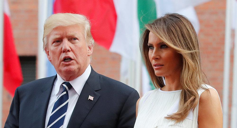 ترامب وزوجته في هامبورغ