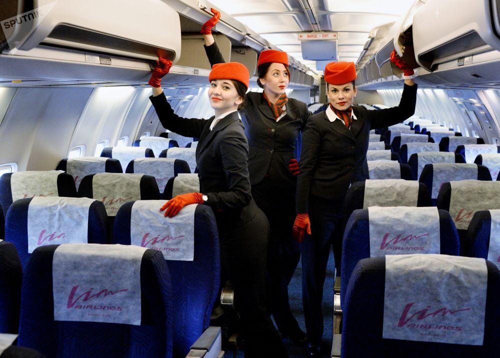 مضيفات الخطوط الجوية الروسية فيم أفيا (Вим Авиа) الروسية