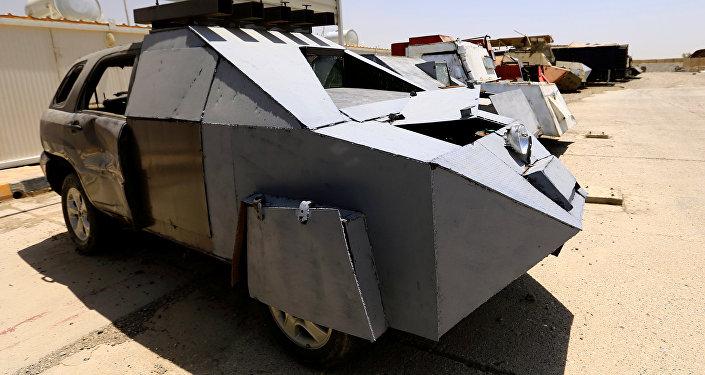 معرض سيارات داعش المفخخة