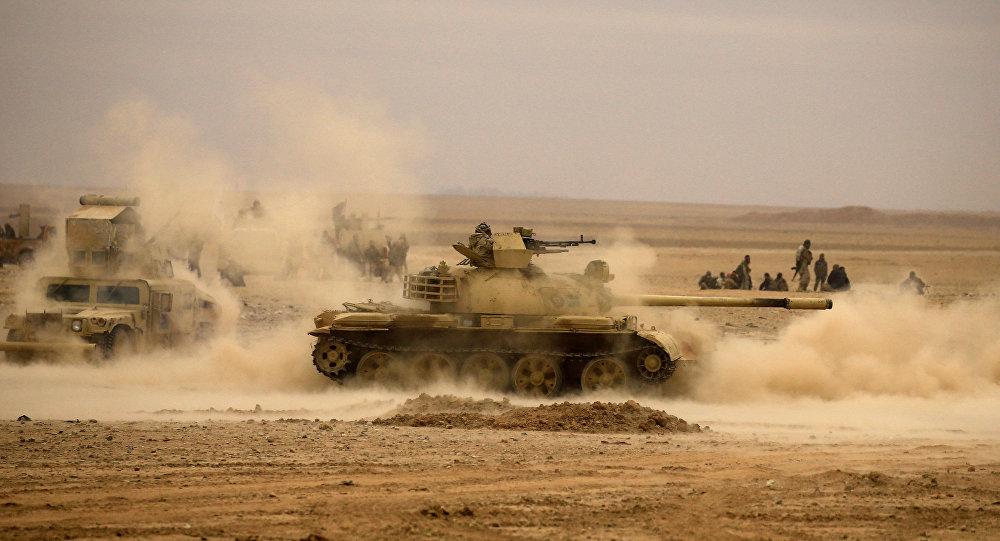 الجيش العراقي الشيعي بالقرب من تلعفر