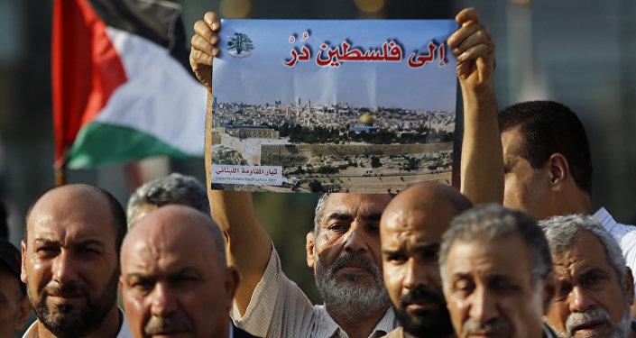 مظاهرات  لنصرة الأقصى في لبنان