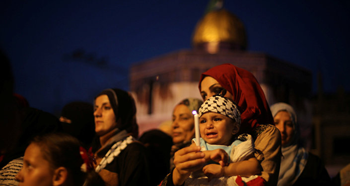 سيدة فلسطينية في خان يونس
