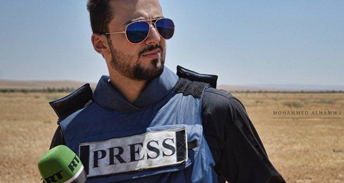 مراسل آر تي خالد الخطيب