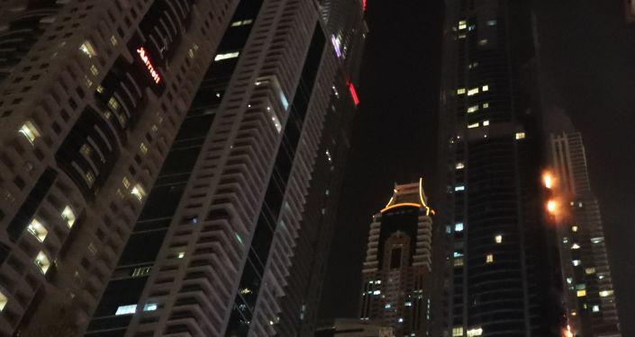 حريق في دبي - أرشيفية