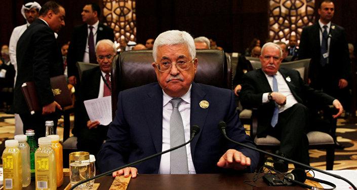 الرئيس الفلسطيني محمود عباس في قمة جامعة الدول العربية