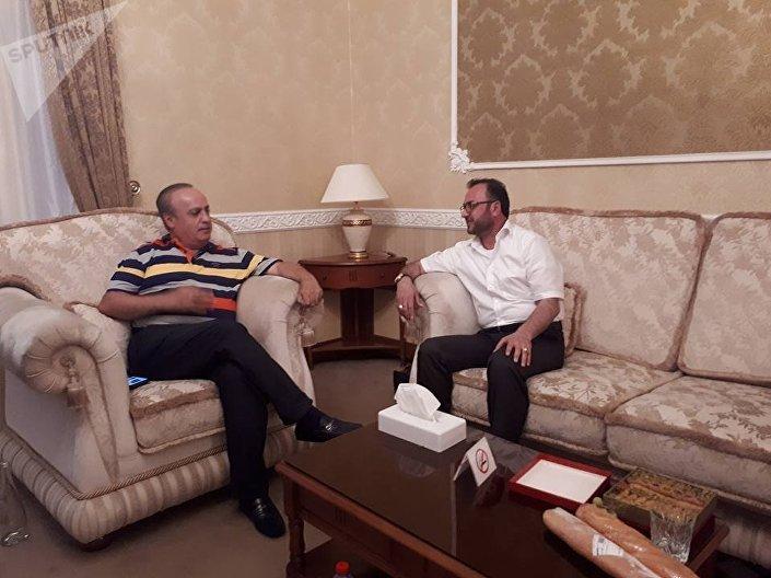 الوزير اللبناني السابق  ورئيس حزب التوحيد العربي وئام وهاب في لقاء خاص مع سبوتنيك