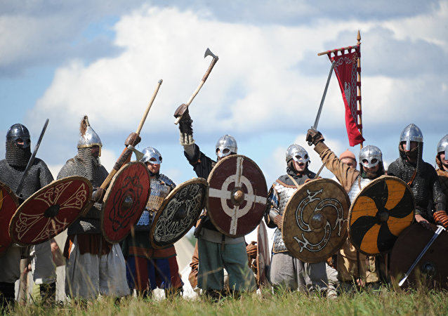 Vikings at The Warrior's Field, an annual festival of history clubs, held in Drakino Park in the Serpukhovsky district. (File)