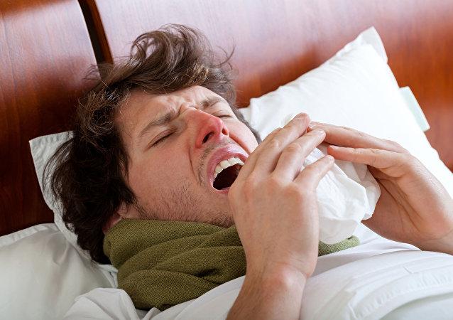 مصاب بالإنفلونزا