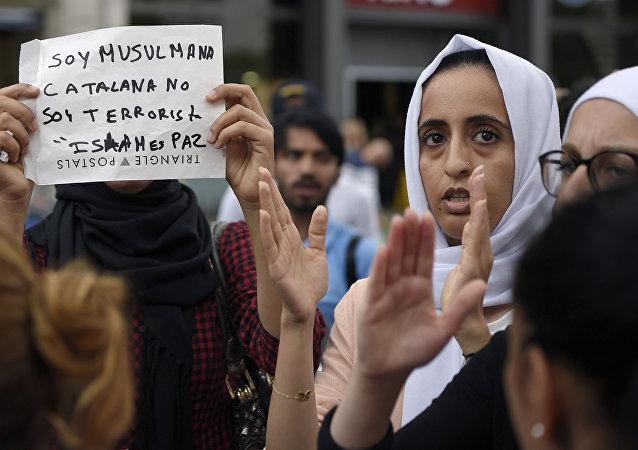 مظاهرة المسلمين في برشلونة